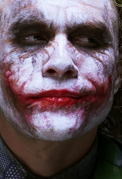"Heath Ledger as the Joker in ""The Dark Knight"" (2008)"