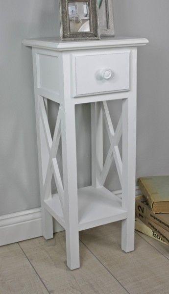 Telefontisch weiß Holz