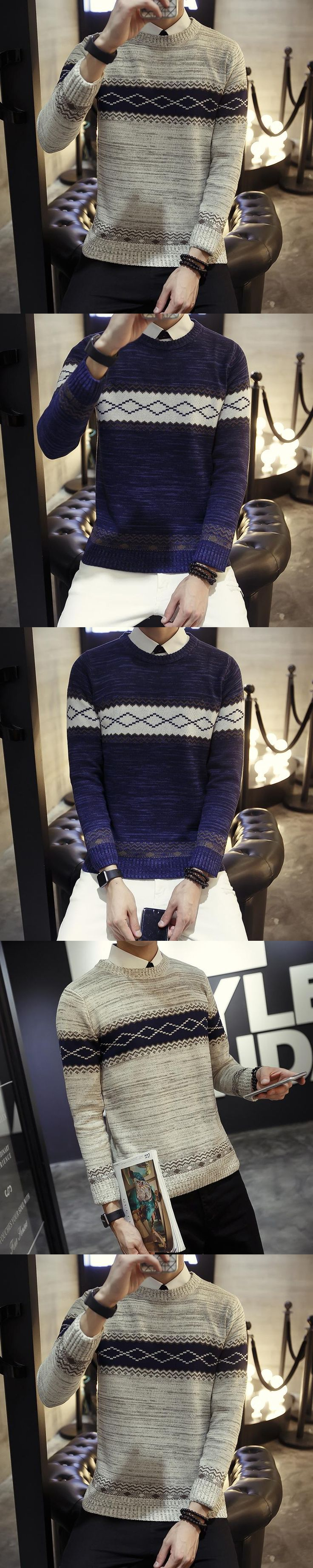 Pullover For Men Mens 2017 Pepper Wool Sweater Turtleneck Knitting Sweaters Cheap-Wool-Sweaters Man Jumpers Striped m688