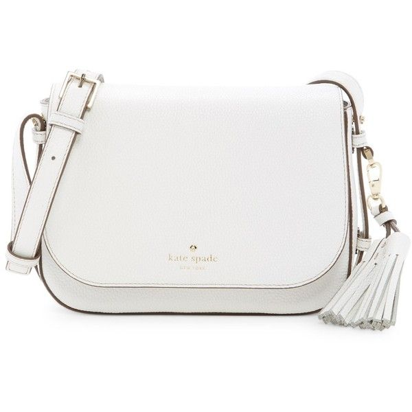 kate spade new york Orchard Street Penelope Tassel Leather Crossbody... ($170) ❤ liked on Polyvore featuring bags, handbags, shoulder bags, kate spade handbag, leather crossbody purse, kate spade purses, kate spade shoulder bag and crossbody handbag