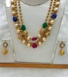 Buy Multicolor american diamonds necklace-sets necklace-set online