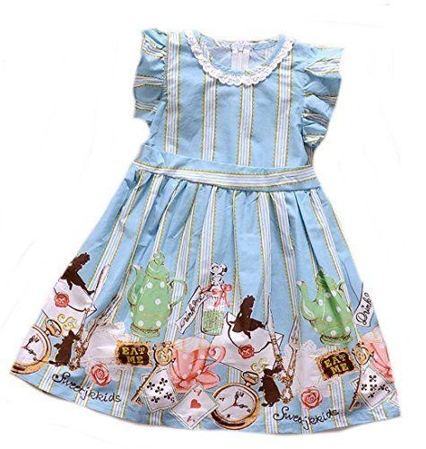 美国子供服 ティータイムのアリスワンピース  並行輸入品 (110cm, ブルー) 美国子供服 http://www.amazon.co.jp/dp/B00UR0TZO0/ref=cm_sw_r_pi_dp_gkjevb0PYVTXD
