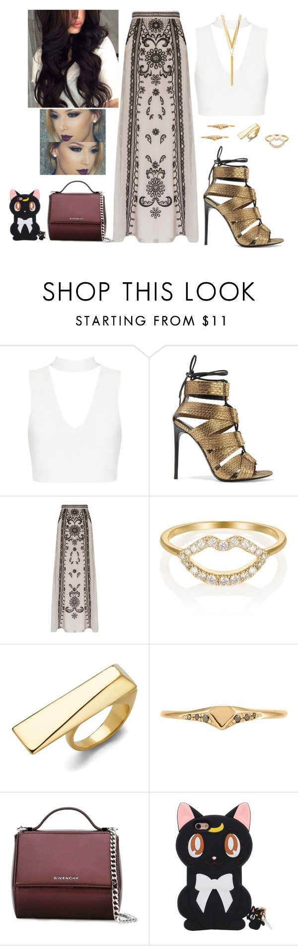 """Sem título #1139"" by anaritaferreira on Polyvore featuring moda, Tom Ford, Temperley London, SB LONDON, Diane Von Furstenberg, Lee Renee, Givenchy e BERRICLE"