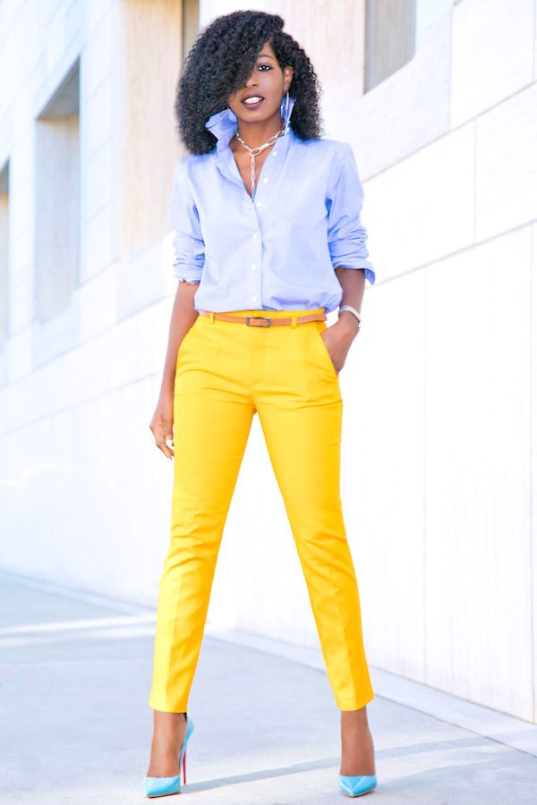 Boyfriend Shirt + Cigarette Ankle Length Pants | Style Pantry | Bloglovin'