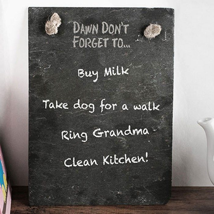 Personalised Medium Slate Chalk Board | Engraved Gifts by Getting Personal