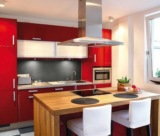 27 best Cuisine R\N images on Pinterest Kitchens, Red kitchen and