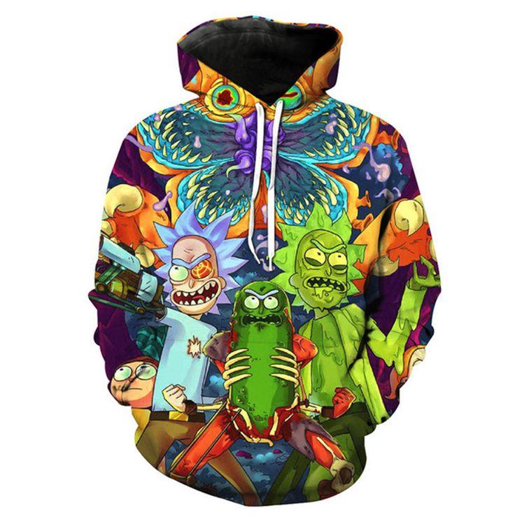 3D Rick And Morty Hoodies Sweatshirt Men Women 2017 Funny Cartoon Rick Print Hoodie Sweatshirt Mens Harajuku Hip Hop Streetwear купить на AliExpress