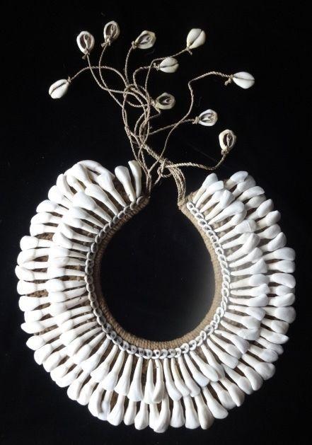 Tribal Asmat Buffalo Tooth Necklace Ethnic Traditional Papua Art Hand Made Jewel #Tribalhealer
