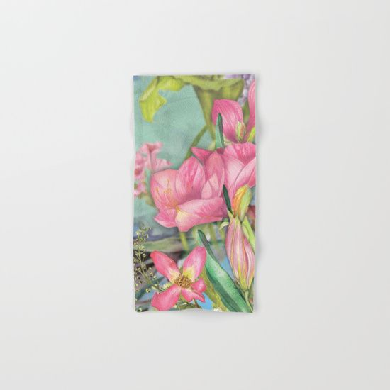 #flowers #florals #handtowel #bathtowel Available in different #giftideas products. Check more at society6.com/julianarw