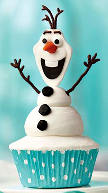 How To Make A Olaf the Snowman Cupcake