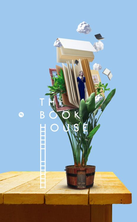 Artwork Name: The Book House Author Name: Hung Pham Link: https://www.behance.net/gallery/35356977/The-Book-House