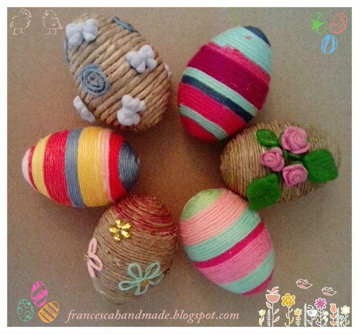 Uova di polistirolo decorate