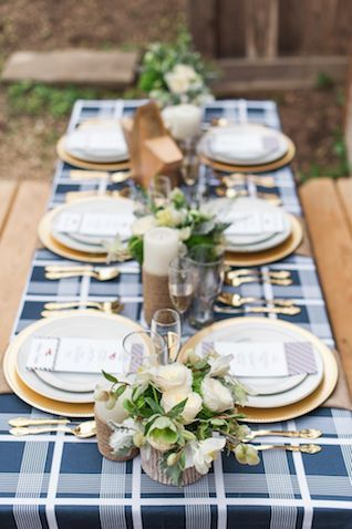 Americana red, white, and blue picnic wedding   Eileen Meny Photography