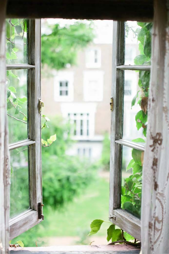 open window interior view architectural details come