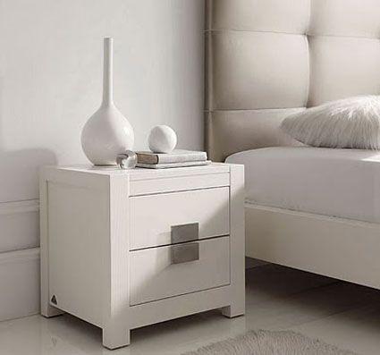 mesas de noche modernas blancas - Buscar con Google