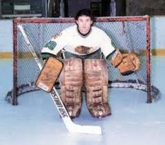A young Ed Belfour playing for the North Dakota Fighting Sioux. #ed #belfour #northdakota #fightingsioux #goalie #hockey #goalie #tbt #vintage #nomask