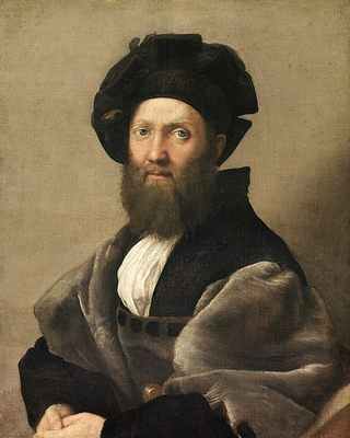 "Balthazar de Castiglione, par Raphaël; oil on canvas 1515. RAPHAEL was called ""the perfect"" This is even more perfect than a photography... You can fee the grey wool of his cloak!"