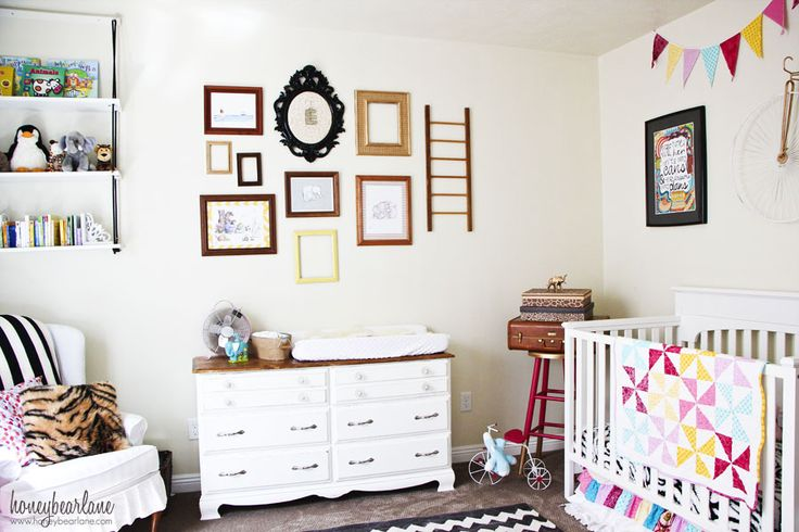 Vintage Circus Nursery - My decorated my daughter's nursery in a vintage circus theme and I love how it turned out. I created, refinished, or thrifted nearly ev…