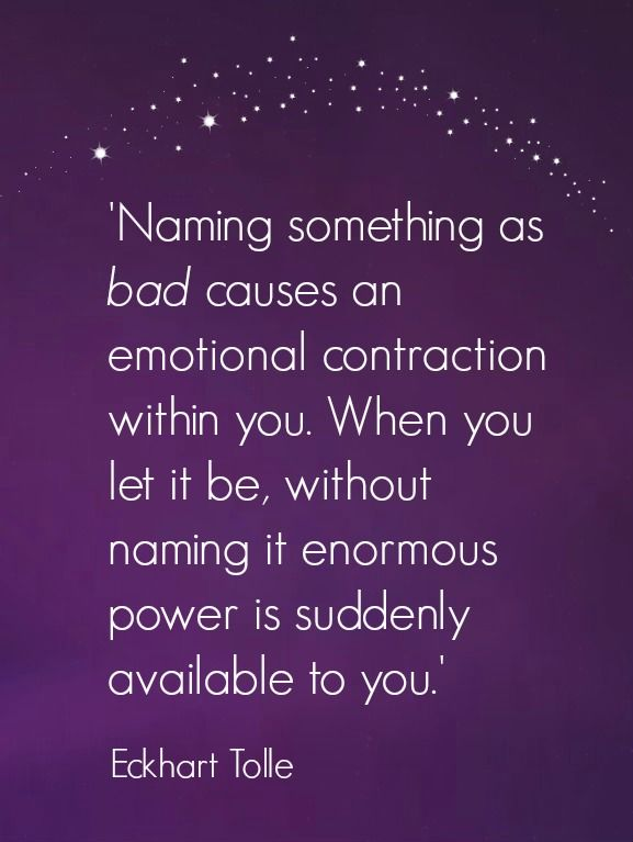 Eckhart Tolle Wisdom - Detaching yourself from negative judgment makes a difference to how you feel.