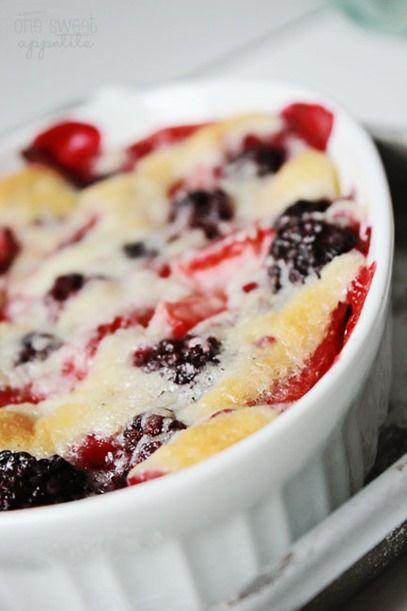 Homemade berry cobbler... yum!!