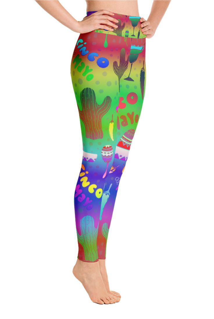Cinco De Mayo Leggings - Fifth of May leggings - Yoga Leggings - Patterned Leggings