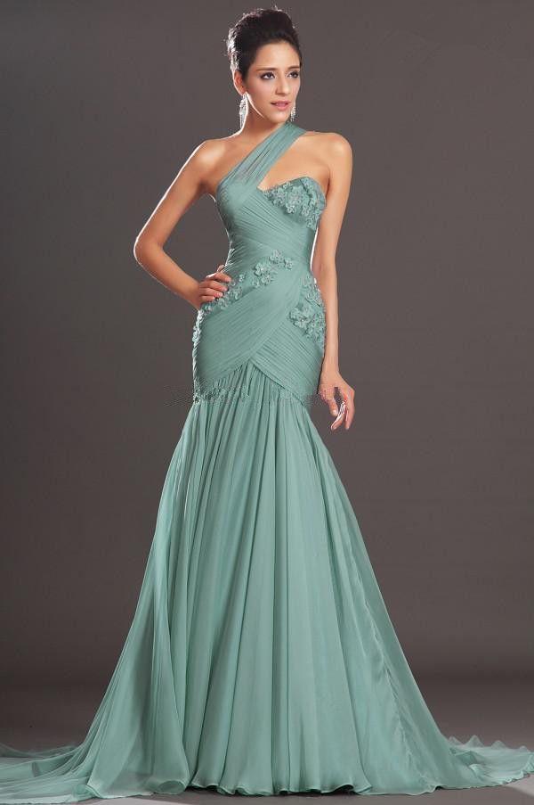 2015 Exquisite Mermaid long Evening dresses Floor-length Ruffles Appliques Chiffon Formal party gowns  Plus size