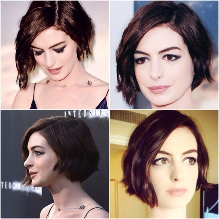 Anne Hathaway bob