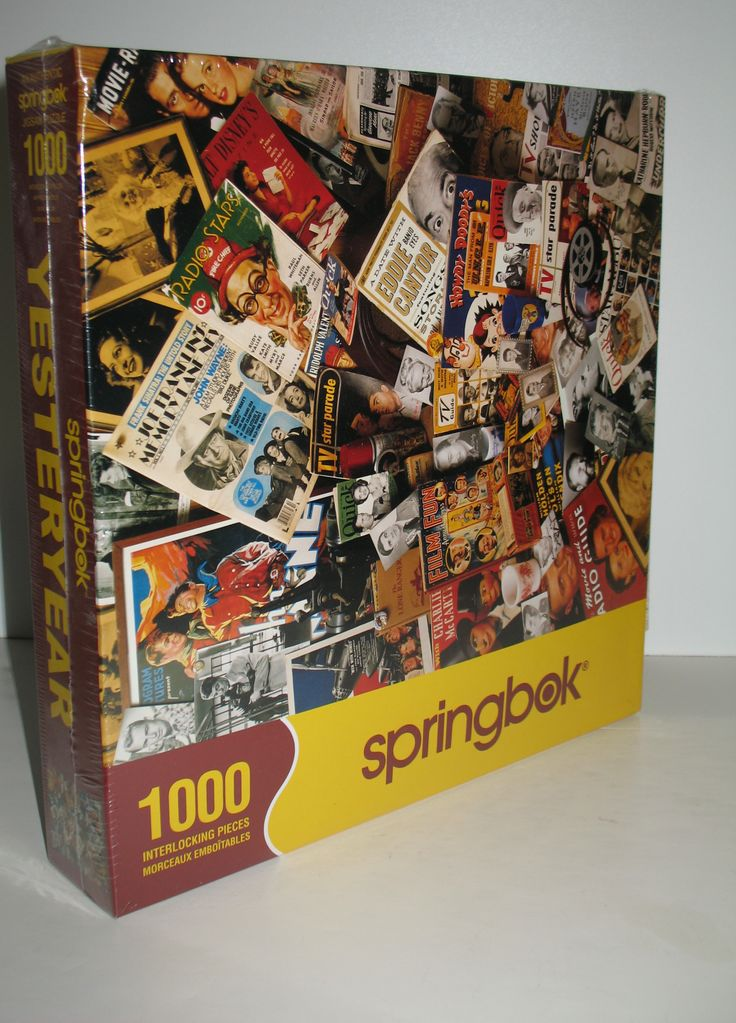 Fun 1,000 piece Springbok jigsaw puzzle for fans of old radio, television and film programs. Within the image, which is by David M. Spindel, I can see Charlie McCarthy, the Lone Ranger, John Wayne, Walt Disney's Magazine, Howdy Doody, Eddie Cantor, Katharine Hepburn and more. #springbok #jigsawpuzzles #radioshows