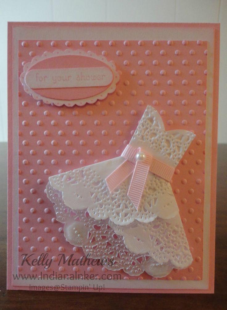 Indiana Inker: Doily Dress Card