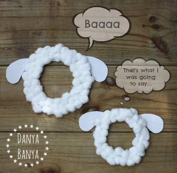 DIY sheep masks with a sense of humour ~ Danya Banya                                                                                                                                                                                 More