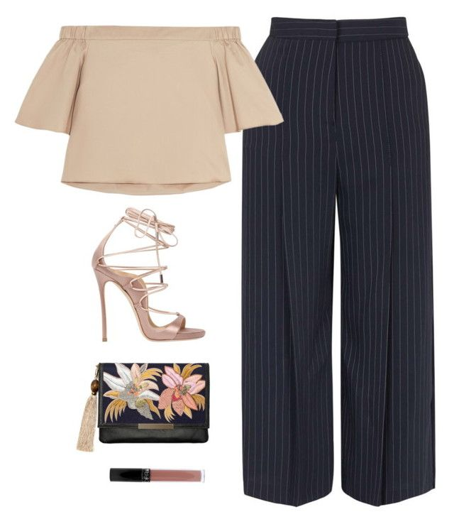 """#825"" by aliensforsale ❤ liked on Polyvore featuring Topshop, TIBI, Dsquared2 and Lizzie Fortunato"