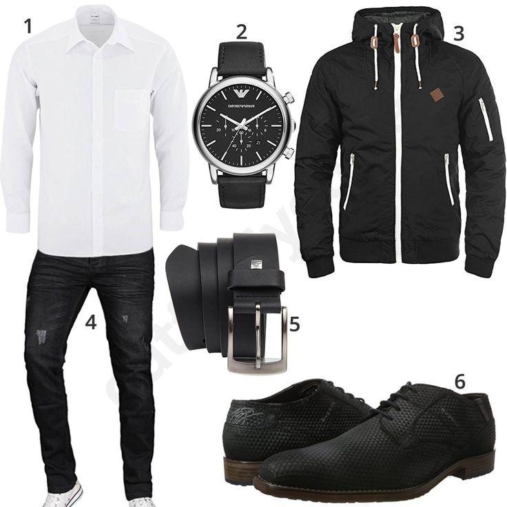 Stile degli uomini neri con scarpe in pelle e camicia olimpica (m0617)