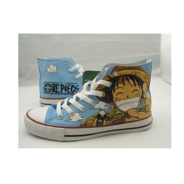 One Piece Anime Luffy Shoes Anime Painted Shoes Anime Painted Shoes Shoes Anime One Piece Anime