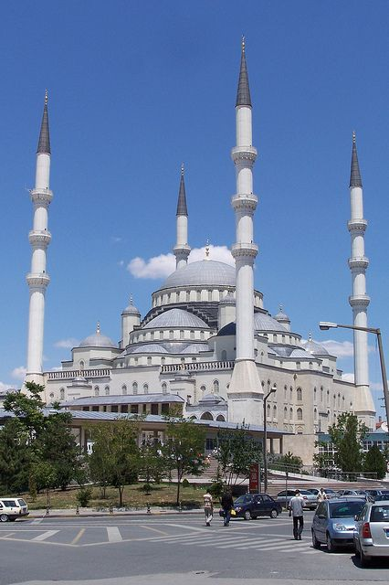 Kocatepe Mosque in the Kızılay district of Ankara, Turkey. My first mosque to see in person. I wish I would have gone inside.