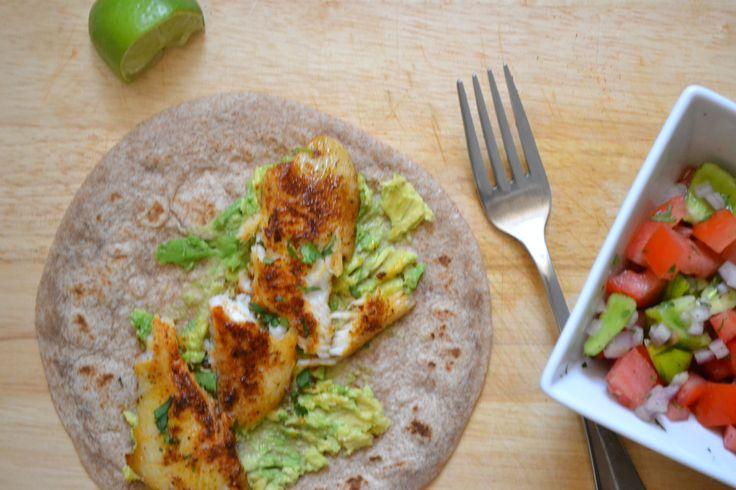 Blackened Tilapia Tacos.  The blackening seasoning sounds delish.