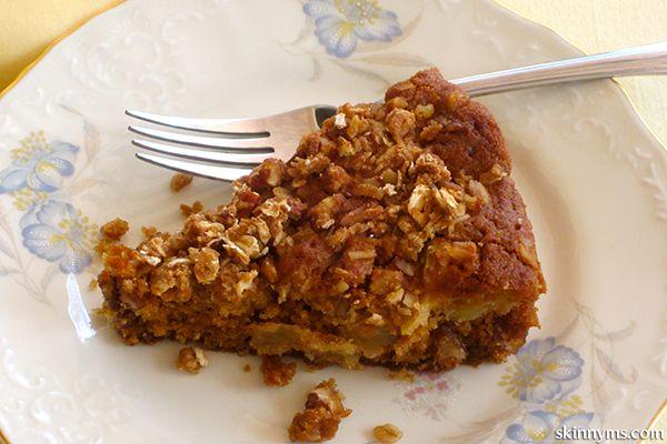 Apple Cinnamon Streusel Cake--a streusel cake with whole food ingredients!  #applecinnamon #streusel #cake