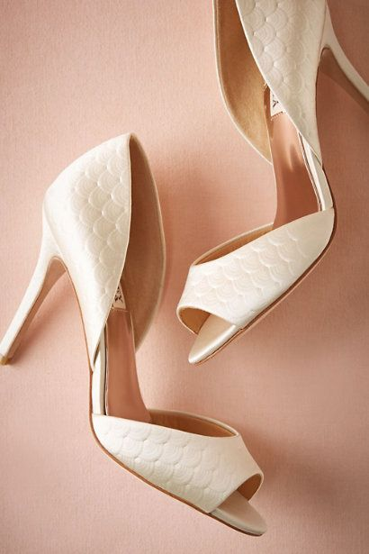 Pressed Scallop DOrsay Heels In Shoes Accessories