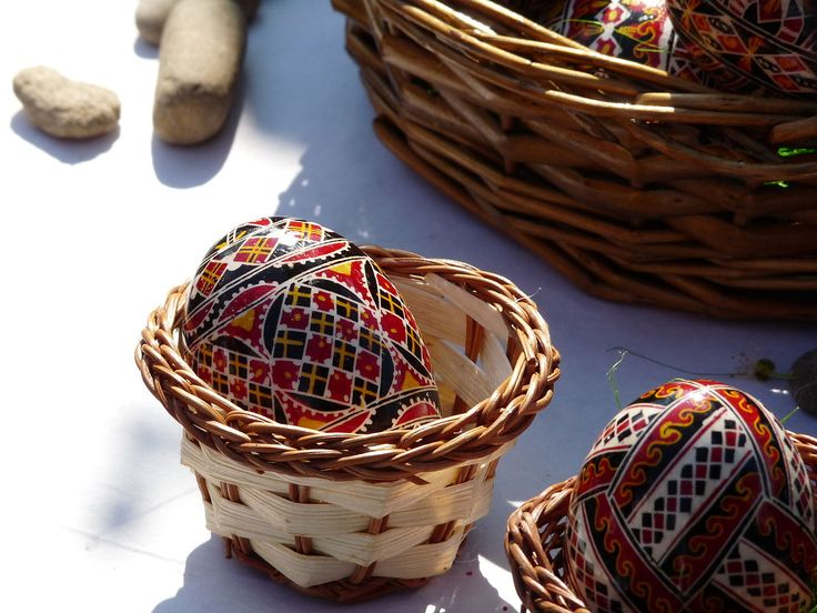 Traditionally painted Easter eggs