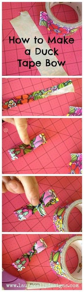 How to Make a Duck Tape Bow! Pool Craft Fun with Duck Tape to Entertain your Kiddos During Adult Swim!