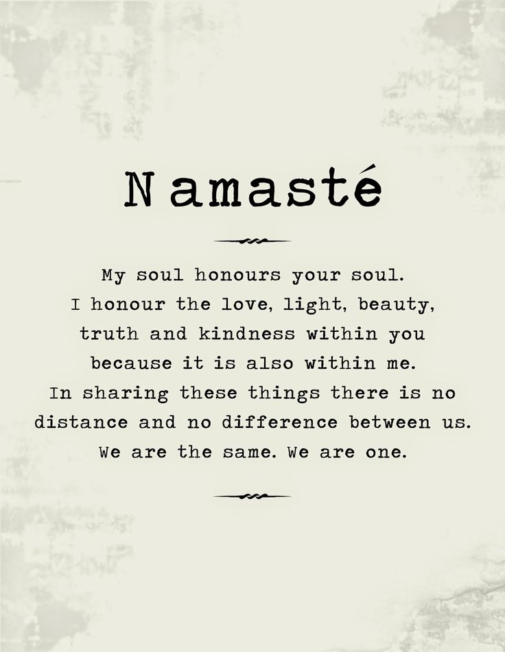The Meaning of Namaste and Free Poster to Print
