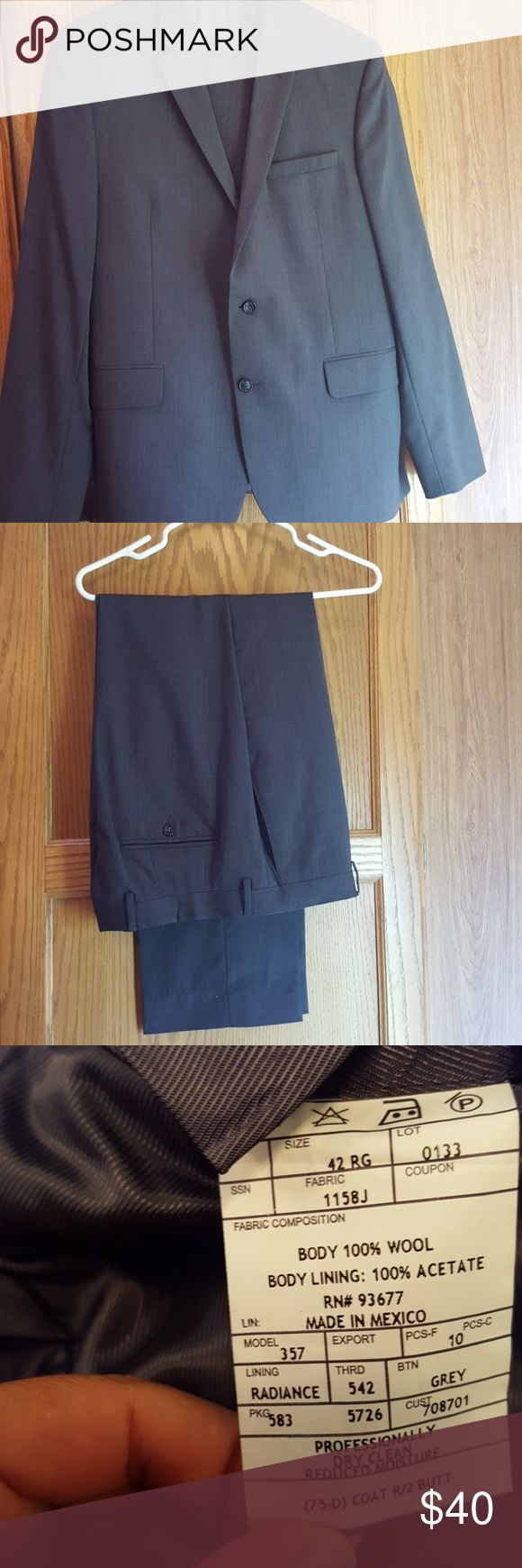 CLAIBORNE SLIM FIT SUIT This suit is like new, and in EXCELLENT condition. Only worn ONCE. Size 42R blazer. 34W 30L pant. Pants are Flat front. No cuff on pant hem. 2 back pockets, 2 front pockets. Blazer has 3 outside pockets, 4 inside pockets. Color is charcoal gray. No stains or odors. No markings of any kind. No rips or tears. No missing buttons. EXCELLENT condition. Smoke free/pet free home. REASONABLE offers considered. Check out my other men's and women's items listed! *also available…