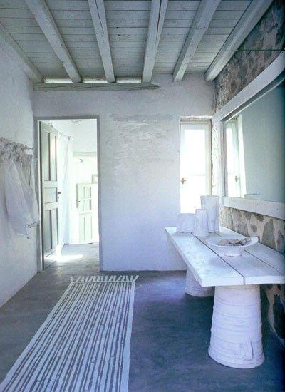 Painted rug greek home Paola Navone
