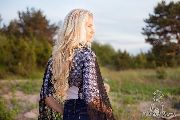 """Knitted lace shawl """"Vivian"""" Knitting pattern by Kirti Asperk"""