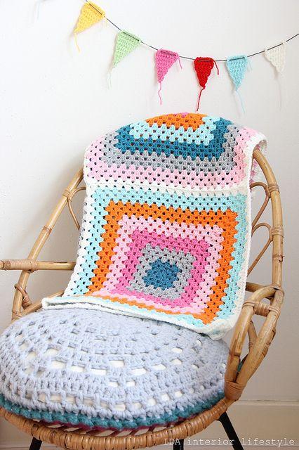 Colorful XXL Granny baby blanket by IDA Interior LifeStyle