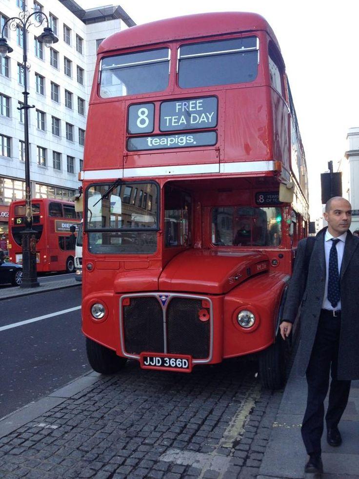The teapigs routemaster - celebrating 8 years of real tea! #teapigsfreeteaday