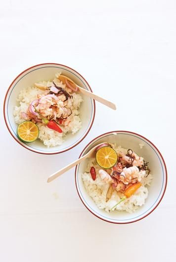 "Filipino ""Jumping Salad"" Shrimp Poke 
