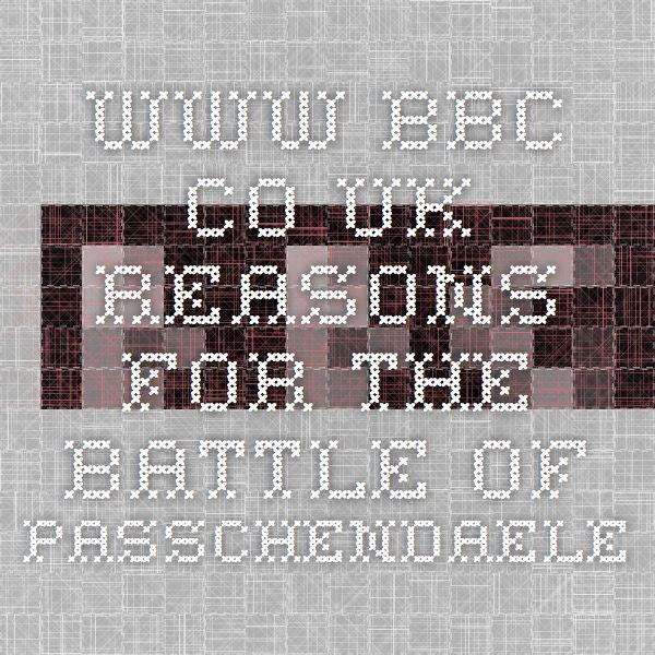 www.bbc.co.uk Reasons for the battle of Passchendaele