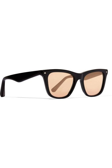 Elizabeth and James - Campbell Wayfarer-style Acetate Mirrored Sunglasses - Black - One size