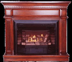 Carlton 4-In-1 Dual Fuel Gas Fireplace, GFD2360KD Sale Price $730.86   Requires No Outside Venting.  No Electricity Required.  Built in ODS (Oxygen Depletion Sensor) System.  6 Piece hand crafted log set.  Provides up to 23,000 BTU's per Hour.  Heats up to 800 sq. ft.  Thermostatically Controlled.