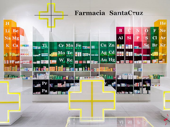 SantaCruz Pharmacy by Marketing Jazz, Santa Cruz de Tenerife store design: Don't we love it when designers come with awesome concepts that just make you want to squeal!